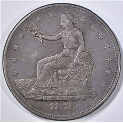 1876-CC TRADE DOLLAR  XF/AU