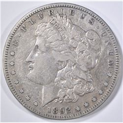 1892-S MORGAN DOLLAR  VF/XF