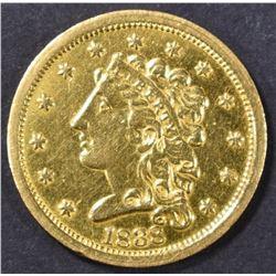 1838 $2.5 GOLD LIBERTY  CH AU
