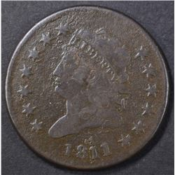 1811/0 LARGE CENT VF