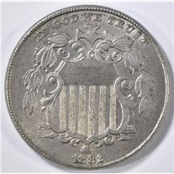 1882 SHIELD NICKEL CH AU