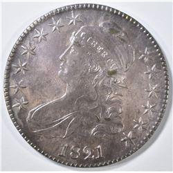 1821 BUST HALF DOLLAR AU/BU COLOR