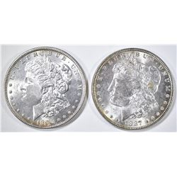 1887 & 1896 MORGAN DOLLARS, BU