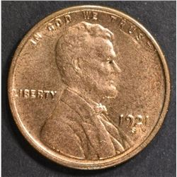 1921-S LINCOLN CENT   CH BU  RB