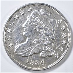 1834 BUST DIME  AU