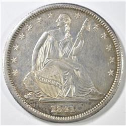1841 SEATED LIBERTY HALF DOLLAR   BU