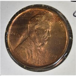1909 VDB LINCOLN CENT CH BU RB