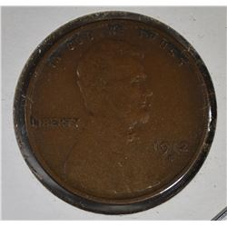 1912-S LINCOLN CENT XF/AU