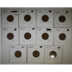 11 EARLY DATE LINCOLN CENTS