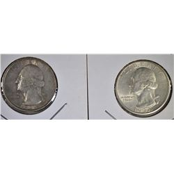 1934 XF & 34-D AU WASHINGTON QUARTERS