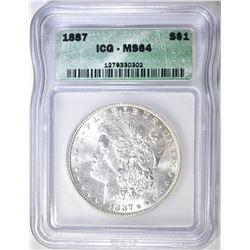 1887 MORGAN DOLLAR ICG MS64