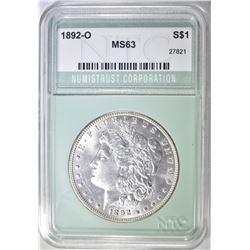1892-O MORGAN DOLLAR NTC CH BU