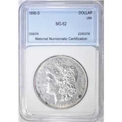 1895-S MORGAN DOLLAR NNC BU