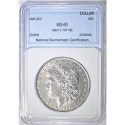 1900-O/CC MORGAN DOLLAR NNC BU