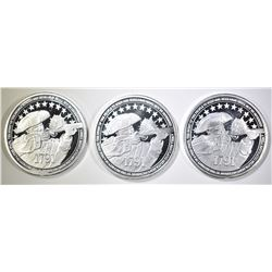 3-RIGHT TO BEAR ARMS 1oz SILVER ROUNDS