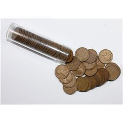 ROLL OF 50 COINS: 1932-P LINCOLN CENTS