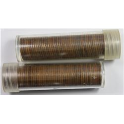 2 ROLLS WITH 50 COINS EACH: 1933-P LINCOLN CENTS