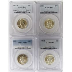 (4) PCGS GRADED WASHINGTON QUARTERS