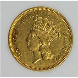 1854-O $3.00 GOLD