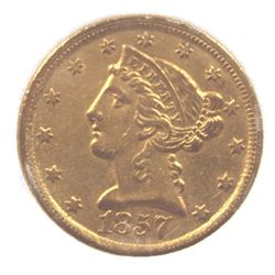 1857-C $5 GOLD LIBERTY