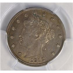 1912-D LIBERTY NICKEL PCGS AU 58.