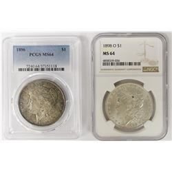 TWO MORGAN DOLLARS:
