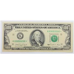 1990 $100.00 FEDERAL RESERVE NOTE