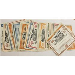 100 MIXED AVATION AND RAILROAD STOCK CERTIFICATE