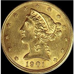 1901-S $5.00 GOLD