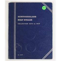 COMPLETE NEWFOUNDLAND HALF DOLLAR SET: