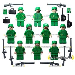 LEGO ARMY FLESH SOLDIERS lot of 10 minifigures