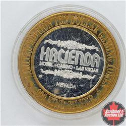 Hacienda Nevada Limited Edition Ten Dollar Gaming Token .999 Fine Silver (Gaucho on Horse)