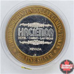 Hacienda Nevada Limited Edition Ten Dollar Gaming Token .999 Fine Silver (Flamenco Dancer)