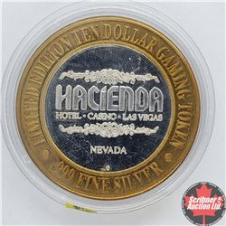 Hacienda Nevada Limited Edition Ten Dollar Gaming Token .999 Fine Silver (Flamenco Dancer)