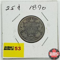 Canada Twenty Five Cent 1890