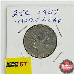 Canada Twenty Five Cent 1947 ML