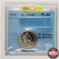 Canada Twenty Five Cent 1972 (CCCS Cert PL-66)