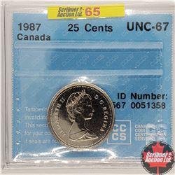 Canada Twenty Five Cent 1987 (CCCS Cert - UNC-67)