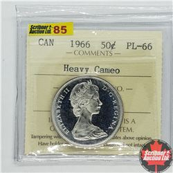 """Canada Fifty Cent 1966 (ICCS Cert """"Heavy Cameo"""" PL-66)"""