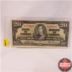 Canada $20 Bill 1937 : Gordon/Towers DE2579085