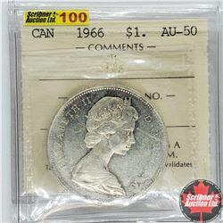 Canada $1 Dollar 1966 (ICCS Cert AU-50)