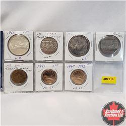 Canada One Dollar - Sheet of 7: 1966; 1966; 1982; 1982; 1991; 1867-1992; 2017