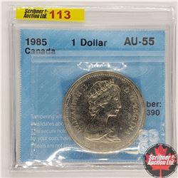 Canada One Dollar 1985 (CCCS Cert AU-55)