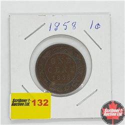 Canada Large Cent 1858