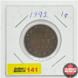 Canada Large Cent 1892