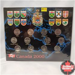 Canada 2000 Collector Card with 12 Quarters