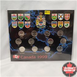 Canada 1999 Collector Card with 12 Quarters
