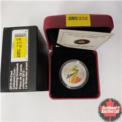 CHOICE OF 12:  RCM 25¢ Coin 2012 : Coloured Coin - Evening Grosbeak