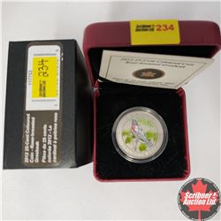 CHOICE OF 12:  RCM 25¢ Coin 2012 : Coloured Coin - Rose Breasted Grosbeak