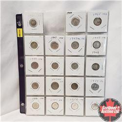 Canada Ten Cent - Sheet of 19: 1920; 1944; 1945; 1946; 1947; 1947ML; 1948; 1949; 1950; 1951; 1952; 1